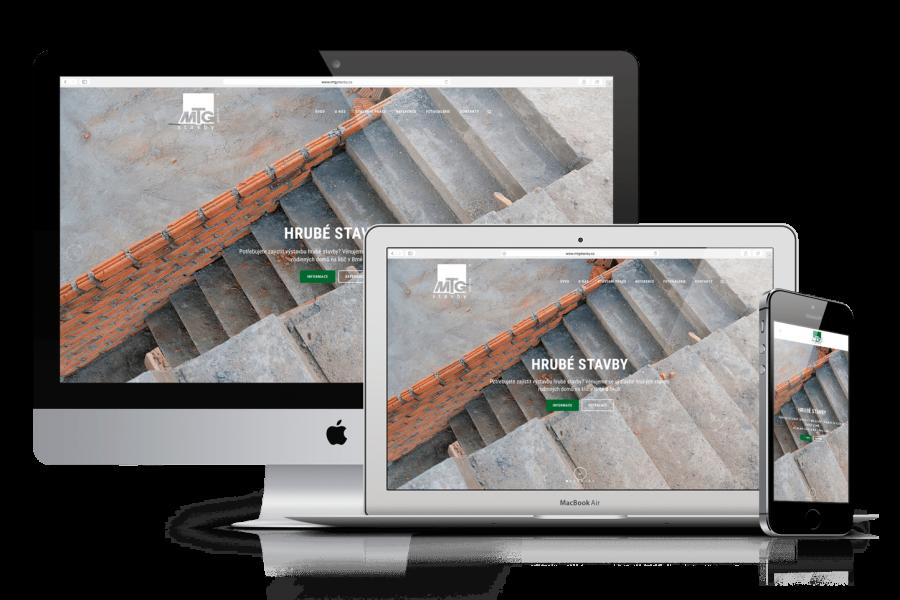 WordPress web MTG Stavby