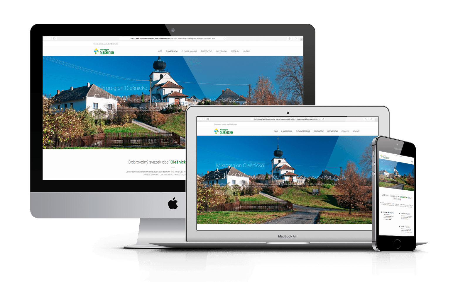 Nový responsivní web Olešnicko
