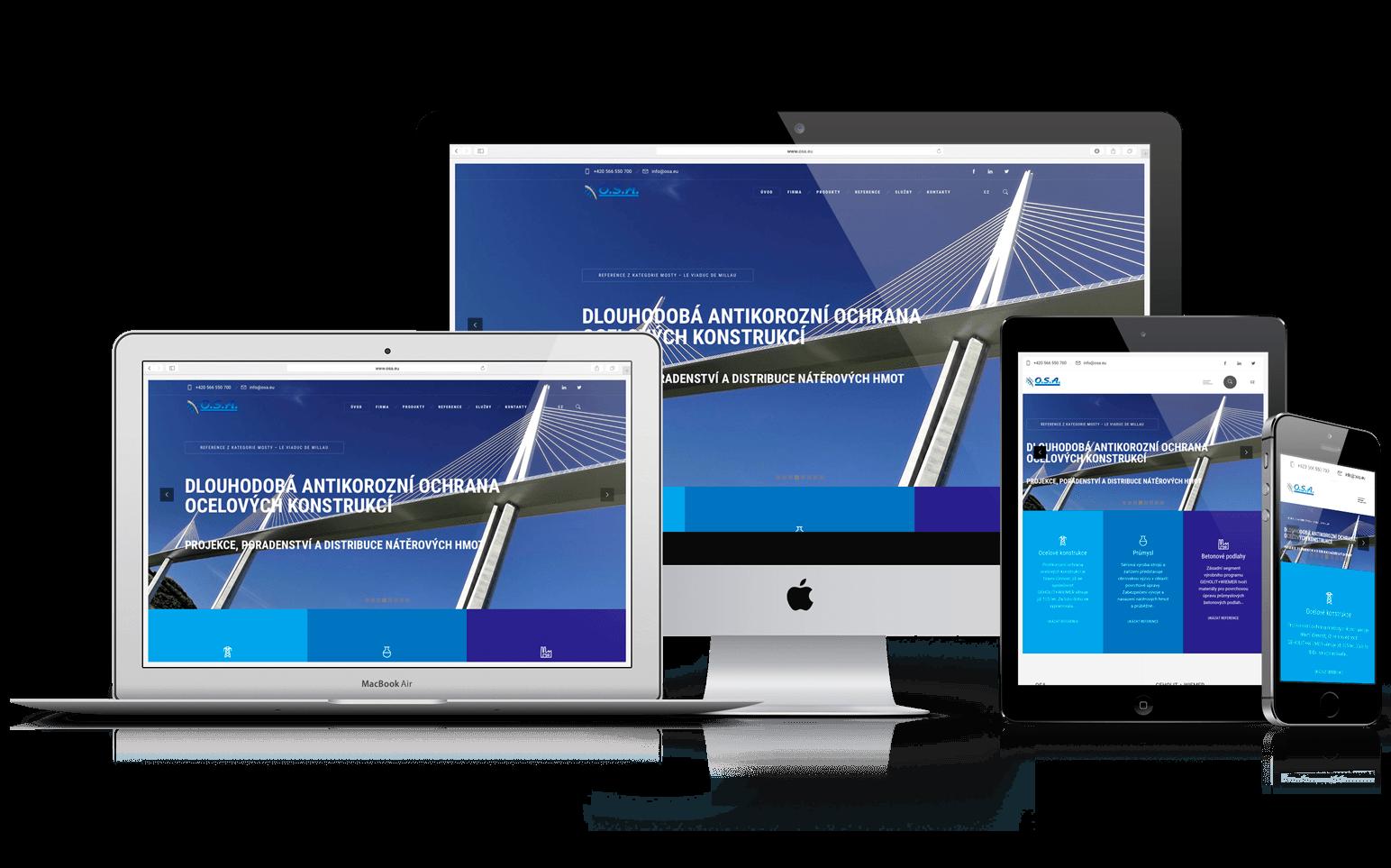 Redesign webu O.S.A.