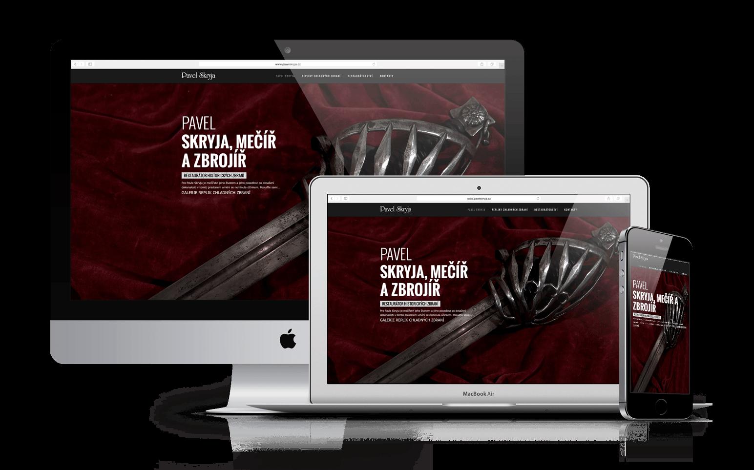 Redesign webu Pavel Skryja