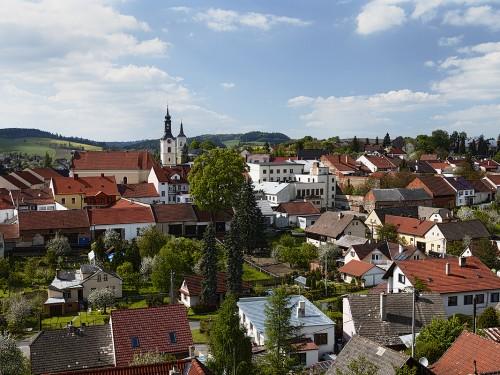 Panorama Olešnice z Horního Vejpustku