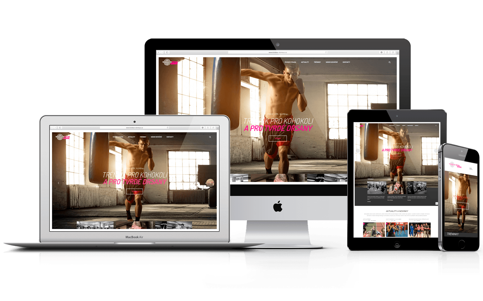 Nový web KickBox Olomouc
