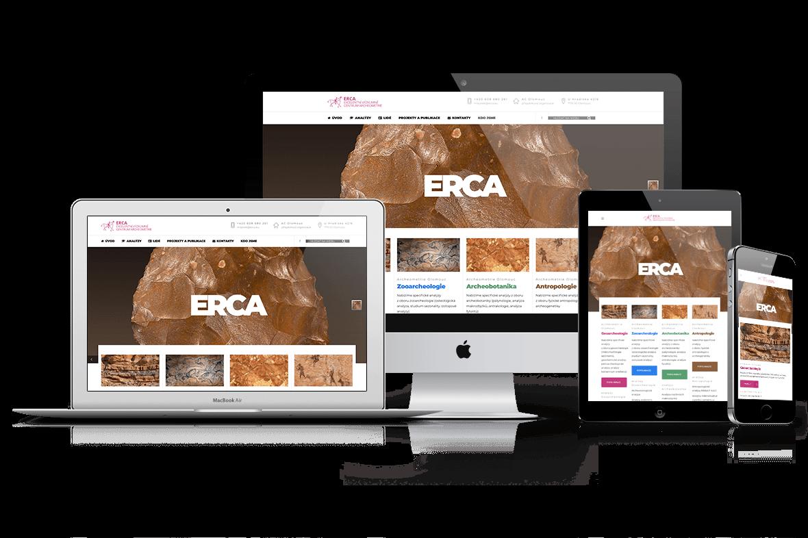 Webové stránky ERCA
